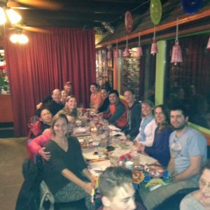 OGI Students and Instructors Enjoying a Meal at the Red Iguana!